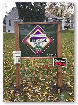 Oakbrook Terrace Historical Society - New Sign