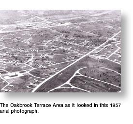 Arial Veiw of Oakbrook Terrace area in 1957